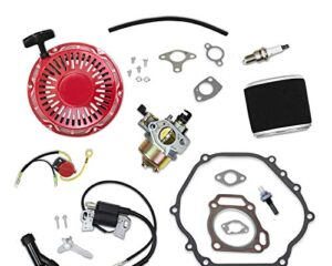 Yingshop Ignition Coil Spark Plug F7TC Compatible for GX110 GX120 GX140 GX160 GX200 4HP 5.5HP 6.5HP Engine Generator Lawnmower Tractor Rototiller Water Pump Go Kart Mini Bike 30500-ZE1-063 4589693